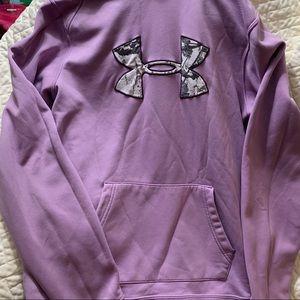 Women's Lavender Under Armour Hoodie Size M